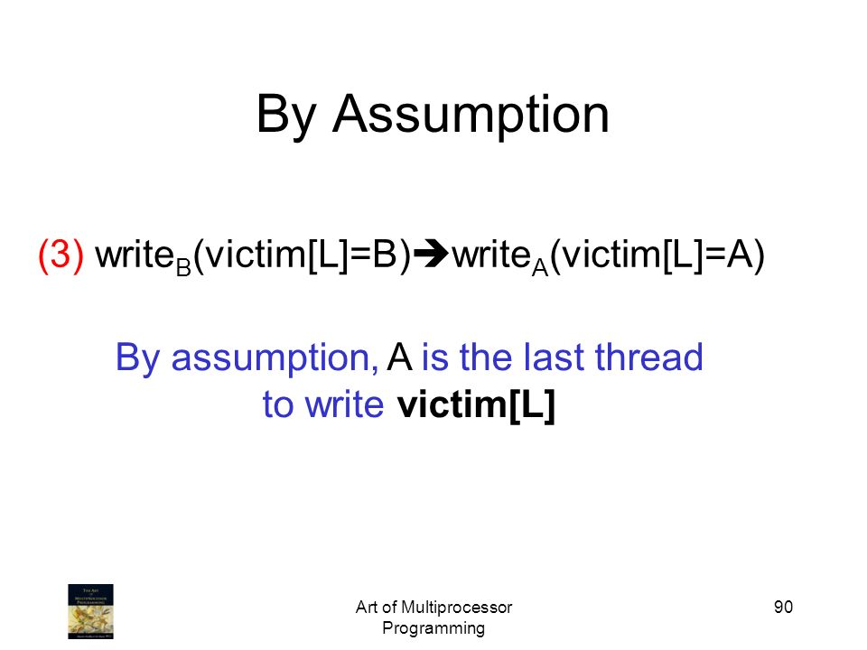 By Assumption (3) writeB(victim[L]=B)writeA(victim[L]=A)